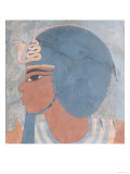 Head of Amenophis III from the Tomb of Onsou, 18th Dynasty, 1550-1295 BC (Mural) Giclee Print