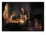Christ in the House of Martha and Mary Giclee Print by Rembrandt van Rijn