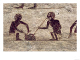 Glass Blowers, Detail from a Tomb Wall Painting, Egyptian, Old - Middle Kingdom (Painted Limestone) Giclee Print
