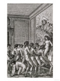 "An Orgy, Illustration from ""Histoire De Juliette"" by the Marquis De Sade, 1797 Giclee Print"