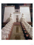 Reconstruction of the Great Temple of Amon, Karnak, Thebes with an Avenue of Ram Headed Sphinxes Giclee Print