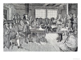 William Penn (1644-1718) in Conference with the Colonists Giclee Print by Howard Pyle
