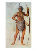 Indian in Body Paint Giclee Print by John White
