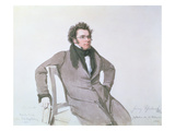 Franz Schubert (1797-1828), 1825 (W/C on Paper) Giclee Print by Wilhelm August Rieder