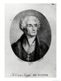Portrait of Count Joseph De Maistre (1753-1821), Engraved by Francois Le Villain Giclee Print by Pierre Bouillon