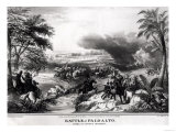 Battle of Palo Alto. Charge of Captain May's Dragoons in Which General La Vega was Taken Prisoner Giclee Print