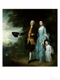 Mr. and Mrs. George Byam and Their Eldest Daughter, Selina, circa 1764 Giclee Print by Thomas Gainsborough