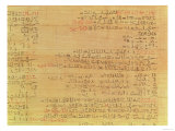 Detail of the Rhind Mathematical Papyrus, Hyksos Period, 15th Dynasty, circa 1550 BC (Papyrus) Giclee Print