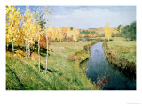 Golden Autumn, 1895 Premium Giclee Print by Isaak Ilyich Levitan