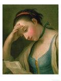 Portrait of a Woman Giclée-tryk af Pietro Antonio Rotari
