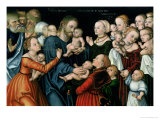Suffer the Little Children to Come Unto Me, 1538 Giclée-Druck von Lucas Cranach the Elder