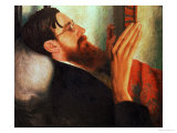 Lytton Strachey, (1880-1932) 1916 Giclee Print by Dora Carrington