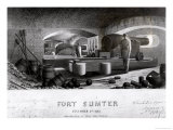 Fort Sumter, Interior View of Three Gun Battery, December 1863 Giclee Print by John Ross Key
