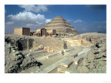 Complex of Djoser Including the Step Pyramid and Entrance to the Enclosure, Egyptian, Old Kingdom Giclee Print