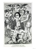 Portrait of the Marquis De Sade Surrounded by Devils Giclee Print