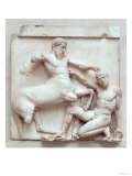 The Battle of Lapiths and Centaurs, Metope XXx from the South Side of the Parthenon, 447-432 BC Giclee Print