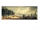 View of the City from the Terrace of Somerset House Giclee Print by Paul Sandby