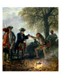 Frederick the Great (1744-97) with Zieten at the Camp, 1852 Giclee Print by Adolph von Menzel