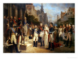 Napoleon Bonaparte (1769-1821) Receiving Queen Louisa of Prussia (1776-1810) at Tilsit Giclee Print by Nicolas Louis Francois Gosse