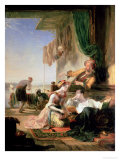 Lord Byron Reposing in the House of a Fisherman Having Swum the Hellespont Giclee Print by Sir William Allan