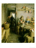 In the Mask Studio, 1897 Giclee Print by Abram Efimovich Arkhipov