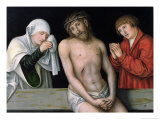 Christ as the Man of Sorrows with the Virgin and St. John Giclee Print by Lucas Cranach the Elder