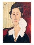 Portrait of Madame Hanka Zborowska, 1917 Premium Giclee Print by Amedeo Modigliani