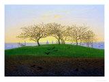 Hills and Ploughed Fields Near Dresden Gicléedruk van Caspar David Friedrich