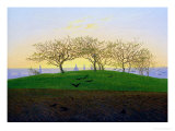 Hills and Ploughed Fields Near Dresden Giclee Print by Caspar David Friedrich