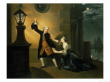 David Garrick (1717-79) as Jaffier and Susannah Maria Cibber (1714-76) as Belvidera Giclee Print by Johann Zoffany