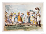 Monstrosities of 1818 Giclee Print by George Cruikshank