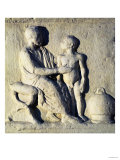 Relief Depicting a Visit to the Doctor (Stone) with Greek Inscription Giclee Print