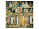 St. Dominic Sending Forth the Hounds of the Lord, circa 1369 Giclée-tryk af Andrea di Bonaiuto