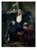 Portrait of S. Mamontov, the Founder of the First Private Opera, 1897 Reproduction proc&#233;d&#233; gicl&#233;e par Mikhail Aleksandrovich Vrubel