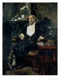 Portrait of S. Mamontov, the Founder of the First Private Opera, 1897 Giclée-Druck von Mikhail Aleksandrovich Vrubel