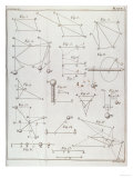 "Plate I, Illustrating Law II from Volume I of ""The Mathematical Principles of Natural Philosophy"" Premium Giclee Print"