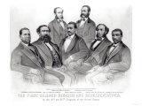 The First Colored Senator and Representatives, in the 41st and 42nd Congress of the United States Giclee Print