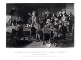 Patrick Henry (1736-1799) Addressing the Virginia Assembly, March 1775 Engraved by Henry Bryan Hall Giclee Print by Alonzo Chappel