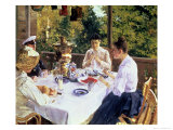 At the Tea-Table, 1888 Premium Giclee Print by Konstantin A. Korovin