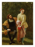 Orsino and Viola Giclee Print by Frederick Richard Pickersgill