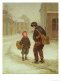 On the Way to School in the Snow, 1879 Giclee Print by Pierre Edouard Frere