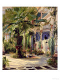 Interior of the Palm House at Potsdam, 1833 Premium Giclee Print by Karl Blechen