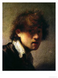 Head of a Young Man or Self Portrait, 1629 Premium Giclee Print by  Rembrandt van Rijn