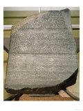 The Rosetta Stone, from Fort St. Julien, El-Rashid (Rosetta) 196 BC (Stone Giclee Print