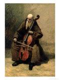 The Monk, 1874 Giclée-Premiumdruck von Jean-Baptiste-Camille Corot