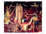 Hieronymus Bosch - The Garden of Earthly Delights: Hell, Detail from the Right Wing of the Triptych, circa 1500 - Giclee Baskı