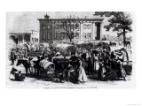 Market Scene in Macon, Georgia, from &quot;Harper&#39;s Weekly&quot; Reproduction proc&#233;d&#233; gicl&#233;e par Alfred Rudolf Waud
