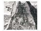 Mining, Frankfurt, 1602 Giclee Print by Theodor de Bry