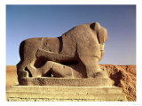 The Lion of Babylon, an over Life-Size Figure of a Lion Trampling a Man, Probably of Hittite Origin Giclee Print