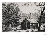 "A Frontier Cabin, from ""The Pageant of America, Vol.3,"" by Ralph Henry Gabriel, 1926 Giclee Print"